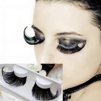 art creation - Pair False Eyelashes Exaggerated Winged Thick Fake Eyelashes Creation Art Party Stage Beauty Makeup Tools