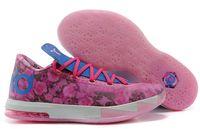 Cheap kd 6 Aunt Pearl Kds Sneakers,KD6 VI Supreme Basketball shoes Men Floral Sport Shoes For Sale Size US 7-12