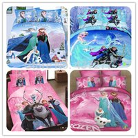 Wholesale Hot sale cotton fabric Frozen bedding sets pc for twin full queen size bed bedspread duvet cover sheet comforter sets textile