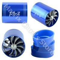 air intake supercharger - F1 Z Supercharger Turbo Air Intake Fuel Saver Double Fan Propeller Super Charge Turbo Charge