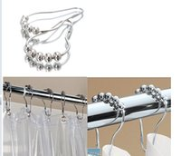 Wholesale Ball shower curtain shower curtain hook curtain hook gourd type metal beads top quality