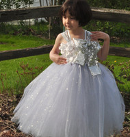 Cheap Charming Real Image 2015 New A line Sequins Girl's Flower Dresses Backless Floor Length Cheap Baby Formal Occasion First Communion Skirt