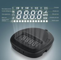 Wholesale Overspeed Alarm Compatible Universal GPS HUD A1 Head Up Display Car OBD2 Speedometer KMH MPH with All Vehicle Truck
