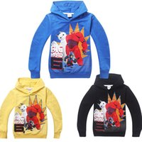 Wholesale 2015 spring and autumn big hero6 children cotton hoodies children s clothing Super Marines Cartoon terry sweater long sleeve T shirt