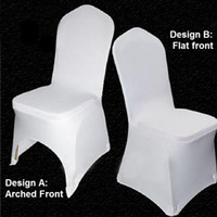 Wholesale Stretch Wedding Chair Covers Universal White Polyester Spandex Cover for Weddings Banquet Folding Hotel Party Decoration Decor