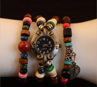 antique prayer beads - Spot explosion models retro watch selling handmade DIY antique table table prayer beads bracelet watches Goku leaves