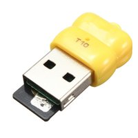 Wholesale T10 Mbps Mini Single Cute USB Micro SD TF T Flash Memory Card Reader Adapter For Linux For Windows For Mac OS
