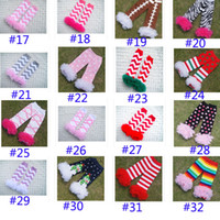 kids leg warmer - 2016 Baby Toddler Infant Girls Lace Leg Warmers Leopard High Knee Warmer Socks Knitted Leggings Children Kids Christmas Arm Warmers ZJ L05