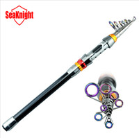 fishing rod guide - SeaKnight Carbon Telescopic Fishing Rod m Super Hard Best Quality Fiber Carbon Spinning Sea Rod Colorful Guide Rings