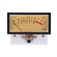 Wholesale High Quality Rectangular Clear Plastic Shell Audio Amp Panel VU Volume Unit Level Meter Indicator Zinc Silver