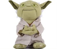 Wholesale 2014 High Quality Star War Master Yoda Plush Toy Lovely PP Cotton Padding CM Height Fine Workmanship Baby Toys Doll New Arrival