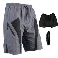 Breathable bicycle fittings - 2015 New Arrival Santic Men Nylon Loose Fit Cycling Bicycle Bike MTB Trousers Shorts D Padded Leisure Shorts Size M XL