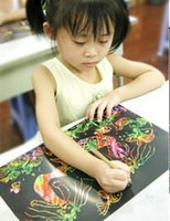 Wholesale New Promote Scraping Drawing Paper Children Painting Educational Toys Children s Toys
