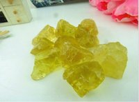 bamboo raw materials - TOP Natural yellow crystal drupelets raw material sculpture decoration lucky G ALOT