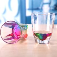 acrylic coffee cups - 1pcs ml Acrylic Rainbow Refraction Mug Drinking Mug Coffee Tea Water Cup Valentine s Cup Christmas Gift