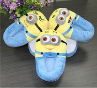 Wholesale Hot sell Cosplay gift Despicable Me Minion Yellow Indoor Home Cartoon Shoes Soft Warm Winter Slippers