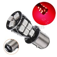 best brakes - Best Price CANBUS Error Free BAY15D SMD LED Red Signal P21 W Car Auto Tail Brake Stop Light Bulb Lamp DC12V
