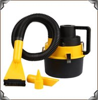 high power vacuum - Car Vacuum Cleaner High Power DC V Portable Wet Dry amphibious Handheld Mini Auto Car Vacuum Cleaner Wash with Brush Crevice Nozzle Head