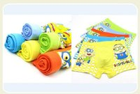 Wholesale Despicable Me Minions Cartoon Lovely kids underwear High quality boys underwear L XL XXL fit yrs children