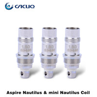 Cheap Aspire Mini Nautilus BVC Coil Head Mini Nautilus Replacement Coil 1.6ohm Stainless Steel 100% Original Aspire E Cigarette Vaporizer Coil