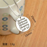 american just - 2016 Fashion HOt Selling engraved letters quot Nothing just let s go quot Pendant Alloy Necklace Fashion Jewelrys Gift ZJ