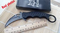 Cheap New Fox Claw Karambit G10 Handle Folding blade knife Outdoor gear EDC Pocket Knife Survival collection knife Knives Black Edition 495X