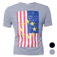 best state flags - w1029 Best seller Man Casual Blouse United States Flag Printed Sport Round Neck T shirt
