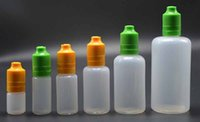 Wholesale E Cig Plastic Dropper Bottle Tamper Childproof Cap Multicolor Eliquid Eye Drop Bottle ml ml ml ml ml ml ml ml E liquid Bottle