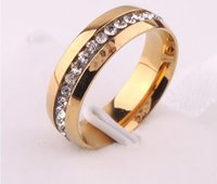 Wholesale 2015 Full drill k Mosaic gold plated ring tide female buddhist monastic discipline titanium steel ring ring couples