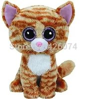 big eyed cats - New Original Ty Beanie Boos Big Eyed Stuffed Animals Tabitha Tabby Cat CM Kids Plush Toys Stuffed Dolls For Children Gifts