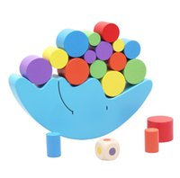 balance beams - Fashion Funny wooden toy colorful the noon of balance developmental baby children child kids toy educational intelligence balance beam