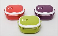 lunch box - A layer of stainless steel lunch box children lunch box in Japan ML thermos crisper three color