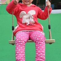 Wholesale New Child Swing Hanging Chair Outdoor Sport Casual Equipment Indoor Baby Wooden Rocking Chair Toys VE0038