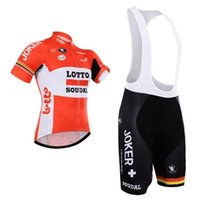 Wholesale Can be mixed size Lotto Team Cycling jersey Riding Clothes Cycling short sleeve Bib Shorts suit