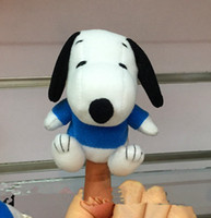 baby snoopy plush - 50pcs Latest baby cute Snoopy Soft finger plush finger puppets hot sale Toys Story telling Props Children Toy Model