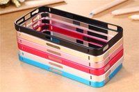 Wholesale For iphone s Explosion models with key for iPhone4S S Mobile Borders slim plum buckle SCREWLESS metal frame