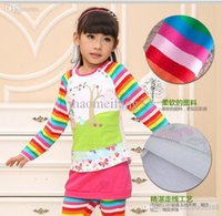 Wholesale cheap New Arrival Spring Children Girls Pig Long Sleeve Cotton Ethnic Embroidery Tees Blouse Tops Kids Clothing ps B0003