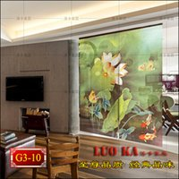 Wholesale Home decoration essential fish bearing printed curtain shutter shutter soft partition curtain Chinese screen customization