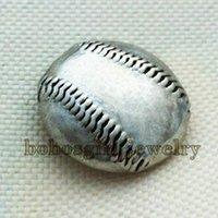 baseball suppliers - MM004 baseball metal snap button jewelry for bracelet OEM ODM noosa jewelry making supplier