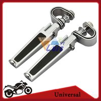 Wholesale Motorcycle Highway Pegs Street Dirt BikeFolding U Clamp Foot Peg Foot Rest Aluminum CNC For Harley Davidson Honda Suzuki order lt no track