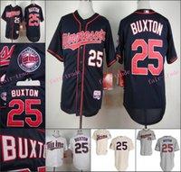 authentic twins jersey - Byron Buxton Jersey Authentic Cool Base Minnesota Twins Jerseys White Grey Blue Cream Pinstripe