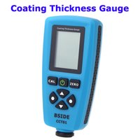 Wholesale Digital Paint thickness gauge Meter um F mils um Resolution Graphical Menu USB Auto F FN Probe Tester