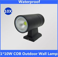 Wholesale 10w COB led wall light waterproof outdoor led garden wall lamp Warm white Cool White up wall lights Porch Light Corridor Lamps