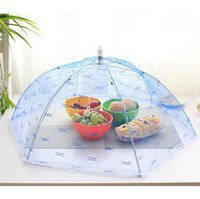 Wholesale Food Covers Umbrella Style Anti Fly Mosquito Kitchen diameter cm C cooking Tools meal cover Hexagon gauze table food cover