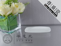 Wholesale 7x14cm Boat Towel Dish Fine Bone China Towel Plate Dinner plate salad dish Fine Porcelain home Housewear Furnishings supplies Tableware