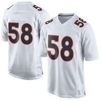 discount football jerseys - Cheapest Discount SUPER BOWL th L New Men Football Jerseys Von MILLER Elite Limited Game Custom Stitched Orange