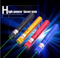Wholesale LED Laser Pointers Pen mW Military nm Green Beam Laser Pointer Pen Zoomable Light Matches with Battery Charger Retail Box