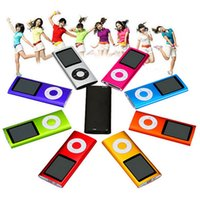 Wholesale MP3 MP4 Player Slim TH quot LCD Video Radio FM Player Support Micro SD TF Card Mp4 th