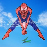 kite fabric - high quality spiderman kite with m handle line children love outdoor flying toys easy kite fabric ripstop hcx