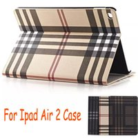Wholesale Card Pocket Wallet Grid Pattern Luxury Stand Leather Case Cover for Apple iPad Air air2 iPad6 mini4 mini